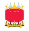 myanmar landmarks culture frame vector image vector image