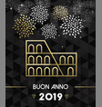 new year 2019 rome colosseum travel gold vector image vector image