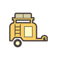 off road trailer icon vector image