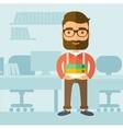 Office clerk vector image