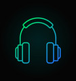 on-ear headphones colorful icon in thin vector image vector image