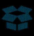 open box composition icon of halftone circles vector image vector image