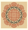 oriental indian asian meditation mandala vintage vector image vector image