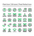 plant line icon vector image vector image