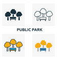 public park outline icon thin style design from vector image