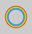 rainbow round rainbows circle isolated vector image vector image
