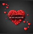 red heart - symbol of love hearts confetti saint vector image