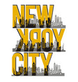 retro new york city vector image vector image