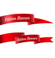 ribbon set banner collection vector image vector image