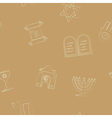 Seamless background with Jewish symbols vector image