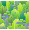 seamless pattern with green forest vector image vector image