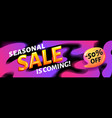 seasonal ssale is coming - pink and black vector image vector image