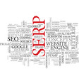 serp word cloud concept vector image vector image