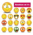 set emoticons n6 vector image vector image