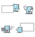set of tablet character with phone laptop board vector image vector image