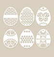 set stencil easter eggs vector image vector image