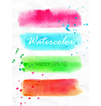 set watercolor stripes bright design elements vector image