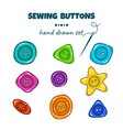sewing buttons vector image