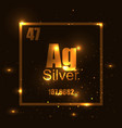 silver element of the periodic table shine vector image vector image