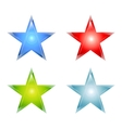 Stars maden from glass vector image vector image