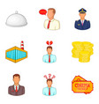 successful work icons set cartoon style vector image vector image