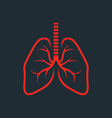 Symbolic human lungs silhouette - fluorography vector image vector image