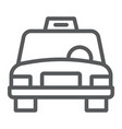 taxi line icon traffic and car cab sign vector image vector image