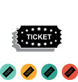 ticket icon isolated on white background vector image vector image
