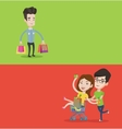 Two shopping banners with space for text vector image vector image