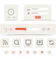 Web player interface template vector image
