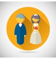Wedding Symbol Bride and Groom Marriage Icon vector image