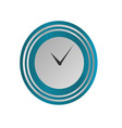 clock icon in silver and blue style timer vector image
