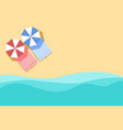 plan of beach summer background with umbrella vector image
