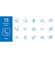 15 talk icons vector image vector image