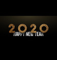 2020 new year long banner modern design with vector image vector image