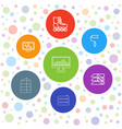 7 roller icons vector image vector image
