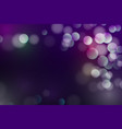 abstract defocused bokeh background glitter and vector image
