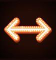 arrow billboard retro light frames theater sign vector image vector image