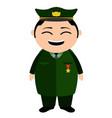asian military captain cartoon character vector image
