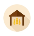 Barn flat icon with long shadow vector image vector image