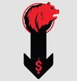 bearish symbols on stock market vector image vector image