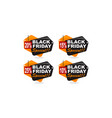 black friday discount template set vector image vector image