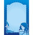 blue spa girl vertical vector image