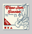 blues jam hand draw poster vector image
