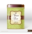 box tea with place for your text vector image