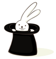bunny in a hat vector image