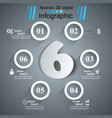 business six infographics origami style vector image vector image