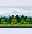 cartoon of the spruce forest vector image