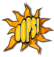 Cartoon oops with rays vector image vector image