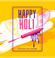 creative happy holi festival greeting background vector image